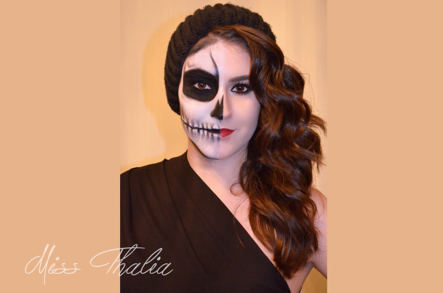 Halloween Skull Makeup ▹ watch me just absolutely fail with my makeup. miss thalia